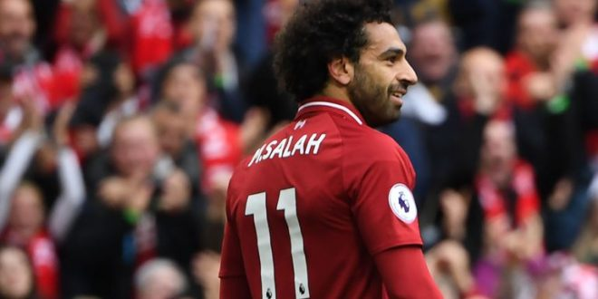 finest selection aabf8 86bc0 Mohamed Salah back on target for Liverpool in comfortable ...